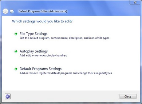Default Programs Editor 1
