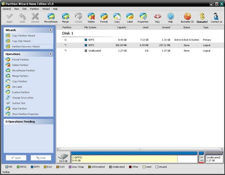 Partition Wizard Home Edition 2