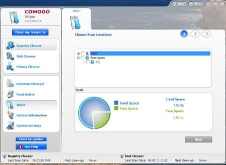 Comodo System Cleaner 1