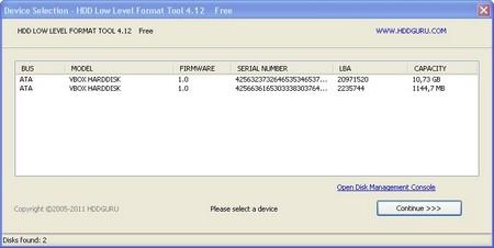 Програмку для твердого диска low format